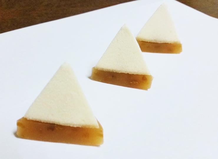 お茶会・茶道教室様用の上生菓子 さんかく